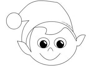 mask little elf coloring page