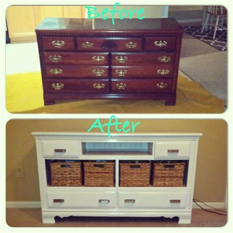 How To Turn Dresser Into Tv Stand by Best 25 Turn A Dresser Into A Tv Stand Ideas On