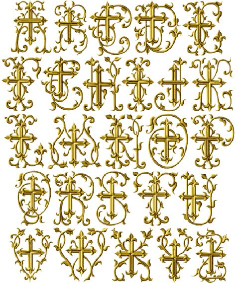embroidery designs religious christian crosses machine embroidery font