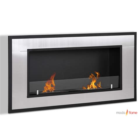 wall mounted fireplace moda lugo wall mounted ethanol fireplace