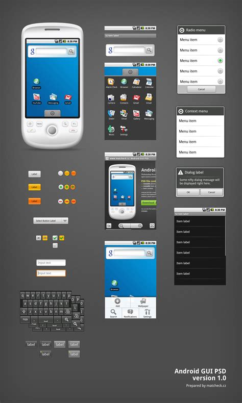 photoshop templates for android android gui psd v1 0 psd mockups