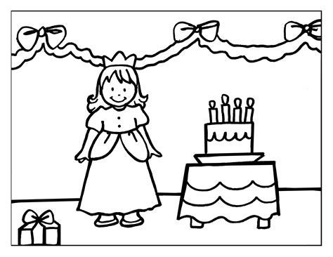 imagenes de cumpleaños para colorear e imprimir dibujo colorear 30 princess birthdat dibujo de princesas