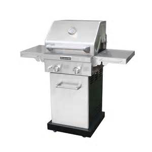 kitchenaid 2 burner propane gas grill in stainless steel