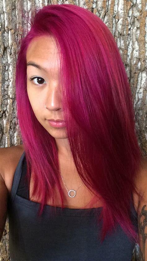 fuschia hair color best 25 magenta hair ideas on purple hair
