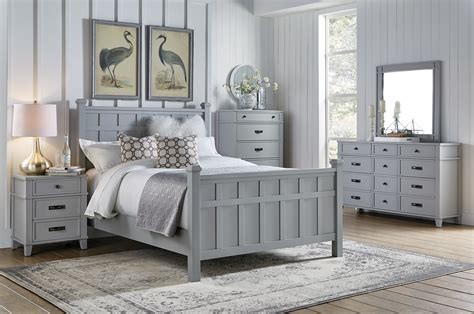 Grey Vintage Bedroom Furniture by Felicity 4pc Bedroom Set Grey