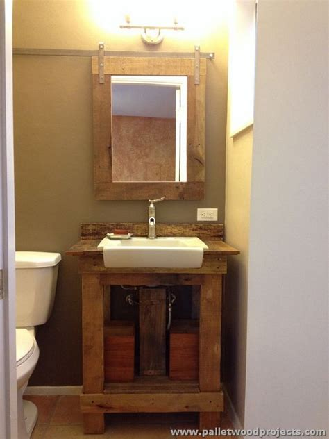 bathroom sink and mirror pallet projects for bathroom pallet wood projects
