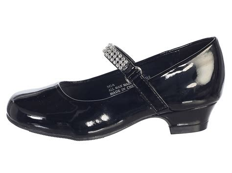 dress shoes for with heel black patent low heel dress shoe with rhinestone