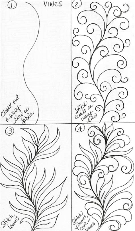 drawing vines pattern luann kessi sketch book vine designs