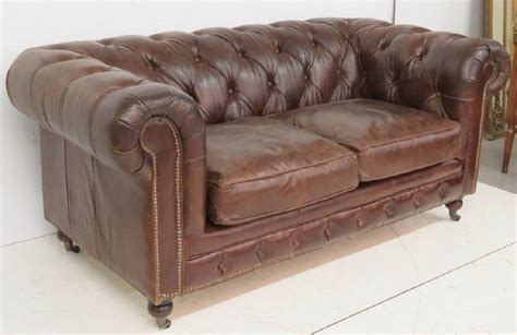 Brown Tufted Leather Chesterfield Sofa For Sale At 1stdibs Tufted Leather Sofa For Sale