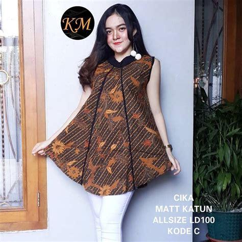 Tunik Santika rok dan blouse kebaya batik santika 75ribu