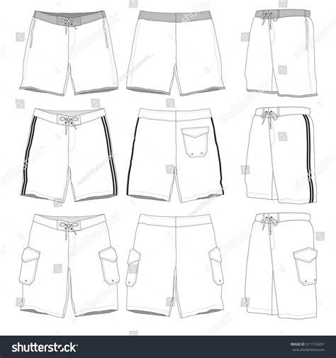 Boardshorts Vector Illustration Templates 스톡 벡터 511774201 Shutterstock Board Shorts Template
