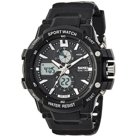 skmei jam tangan sport pria ad0990 white black