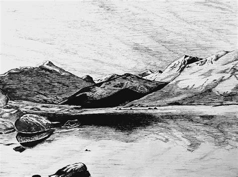 pin by joy lake on ink me very much pinterest drawing ii pen and ink mountains by munjey86 on deviantart