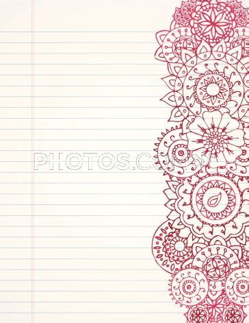 patterned lining paper stock illustrations hand drawn henna border on lined