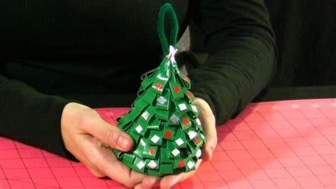 how to make a duct tape christmas tree ornament