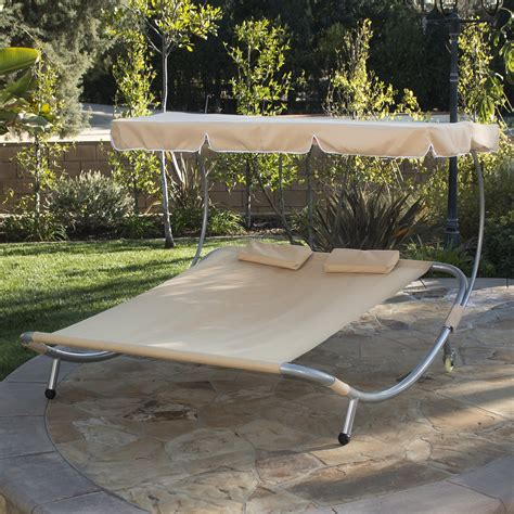 Covered Hammock Bed by New Hammock Bed Lounger Chair Pool Chaise Lounge