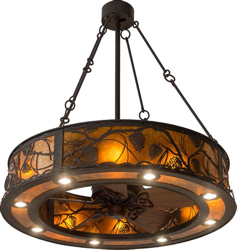 ceiling fan light fixtures meyda 181388 whispering pines rustic rubbed