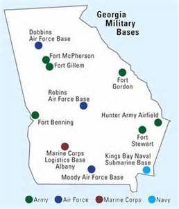 army bases map free program map of installations in