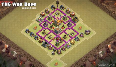 clash of clans war base 6 th6 war base with 2 air defenses
