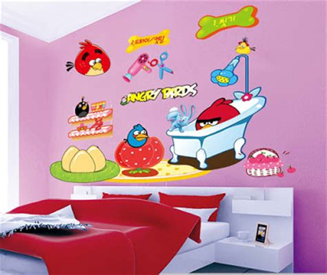 angry birds bedroom decor angry bird wall decoration for children bedroom