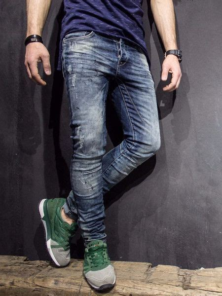 Distressed Washed Slim Fit p v slim fit distressed paint stains washed