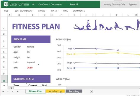 weight management lesson plans how to create and track your fitness plan with excel