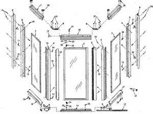 guardian shower door parts sears neo angle shower door parts model 392684140