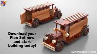 Build Wooden Toy Truck by Wood Toy Plans Antique Metro Trucks Youtube