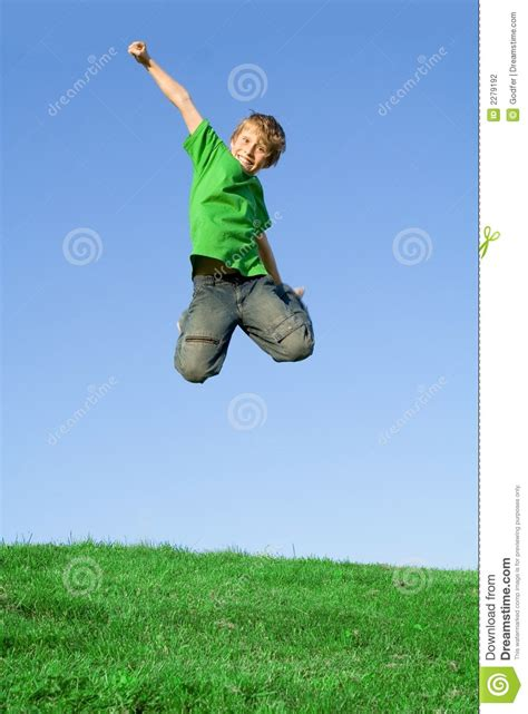 jump free happy smiling child jumping free stock photography image
