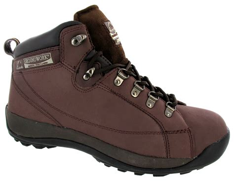 size 13 mens boots mens safety trainers leather steel toe caps hiking ankle