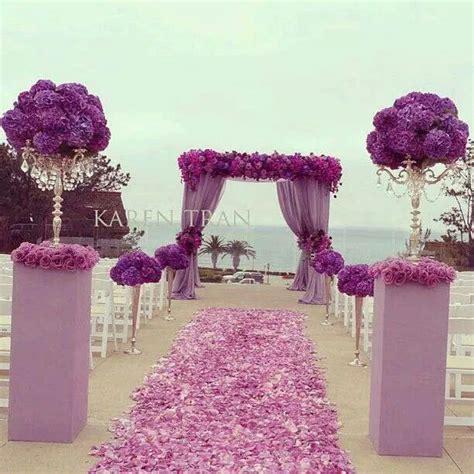 Purple setting Pink setting Beach wedding outdoor wedding