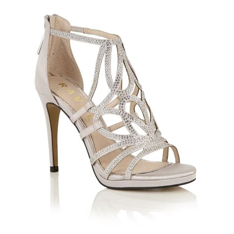 silver heeled sandals buy ravel blanco heeled sandals in silver satin