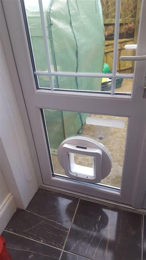 Cat Flap Fitted In Glazed Door by Cat Doors Newcastle 1 Pet Doors