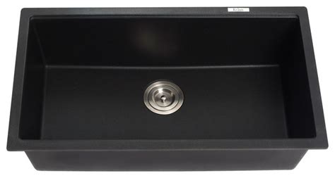 black kitchen sinks uk kraus kgu 413b undermount single bowl black onyx granite