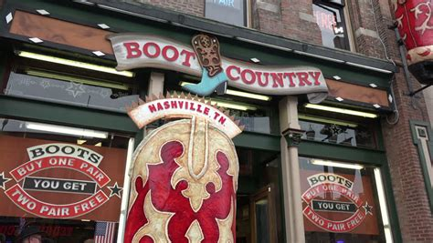 boot country nashville nashville tennessee usa october 12 2014 tilt