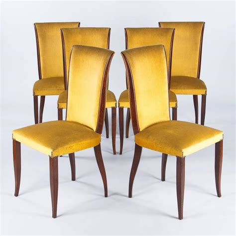 1940s Dining Room Furniture Set Of Six 1940s Mahogany Chairs At 1stdibs