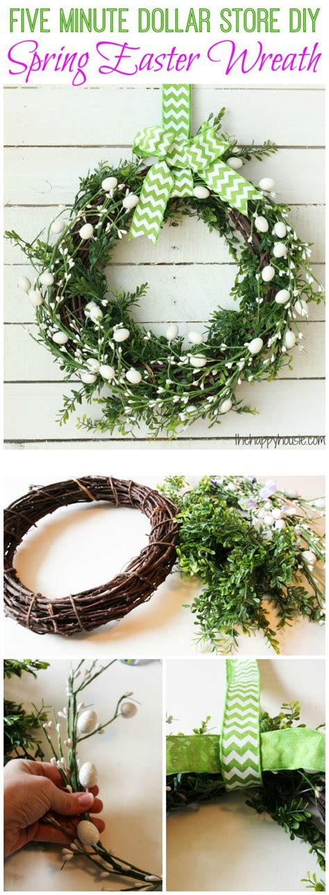 how to make a spring wreath five minute dollar store diy spring easter wreath the