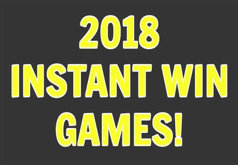 New Instant Win Games - new instant win games in 2018