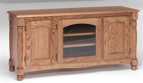 """Solid Oak Country Trend TV Stand w/Cabinet  58""""   The Oak"""