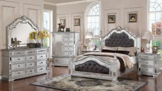 gloria mirrored complete bedroom set