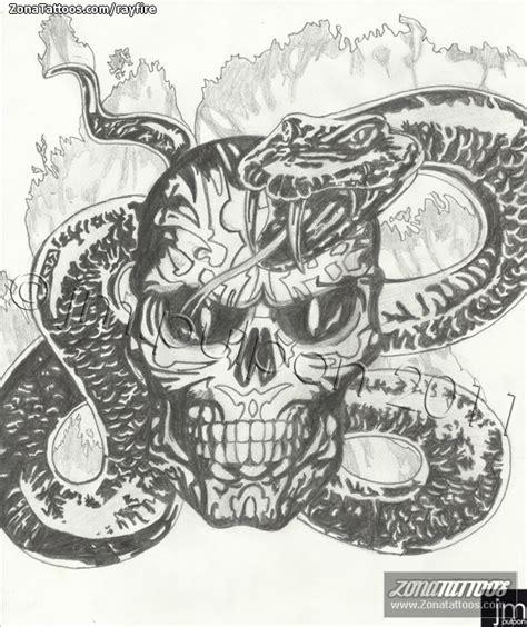 imagenes de calaveras y serpientes dise 241 o de serpientes calaveras