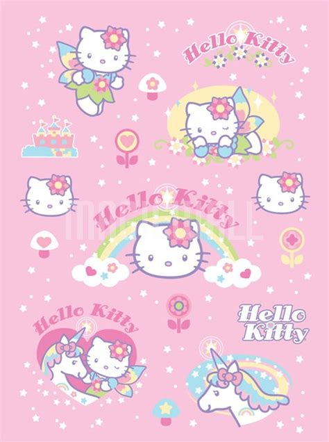 Hello Kitty Fairy Fale Wall Paper   Wall Murals   Wall