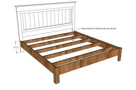 King Bed Frame Dimensions King Size Bed Frame Building Plans Plans Free