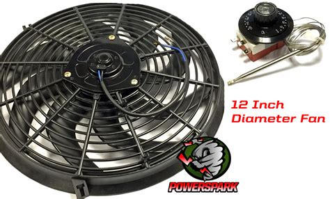 12 volt fan 12 volt 12 quot electric radiator fan thermostat