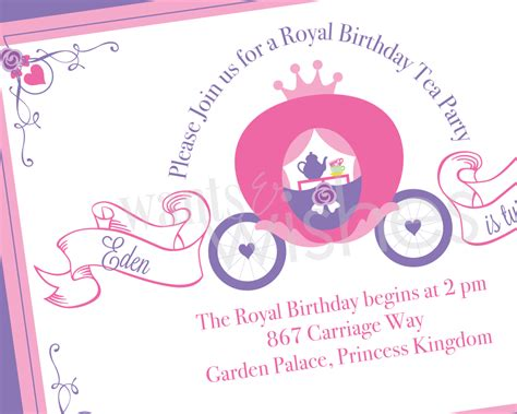 Tea Party Invitations Templates Free Cloudinvitation Com Princess Birthday Invitation Templates Free