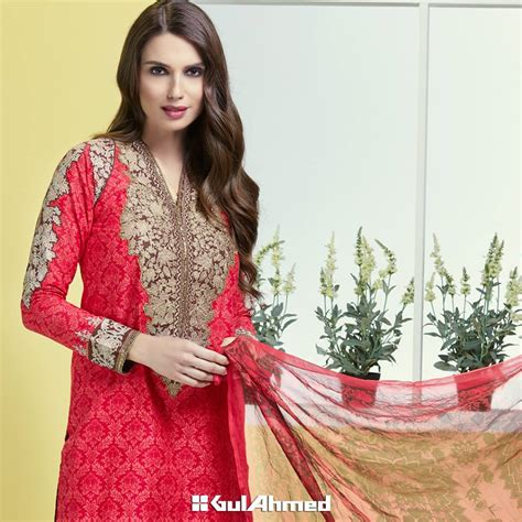 dress design lawn 2016 gul ahmed summer embroidered lawn collection 2016 2017