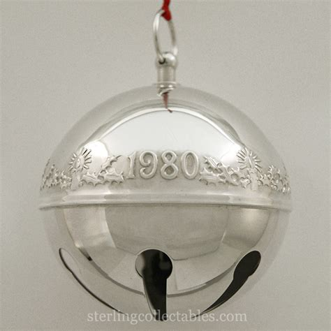 wallace silver bell 2018 1980 wallace sleigh bell silverplate ornament sterling collectables