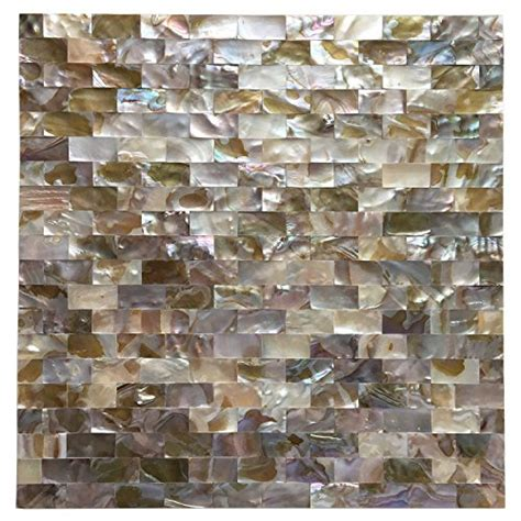 art3d peel and stick of pearl shell mosaic tile for