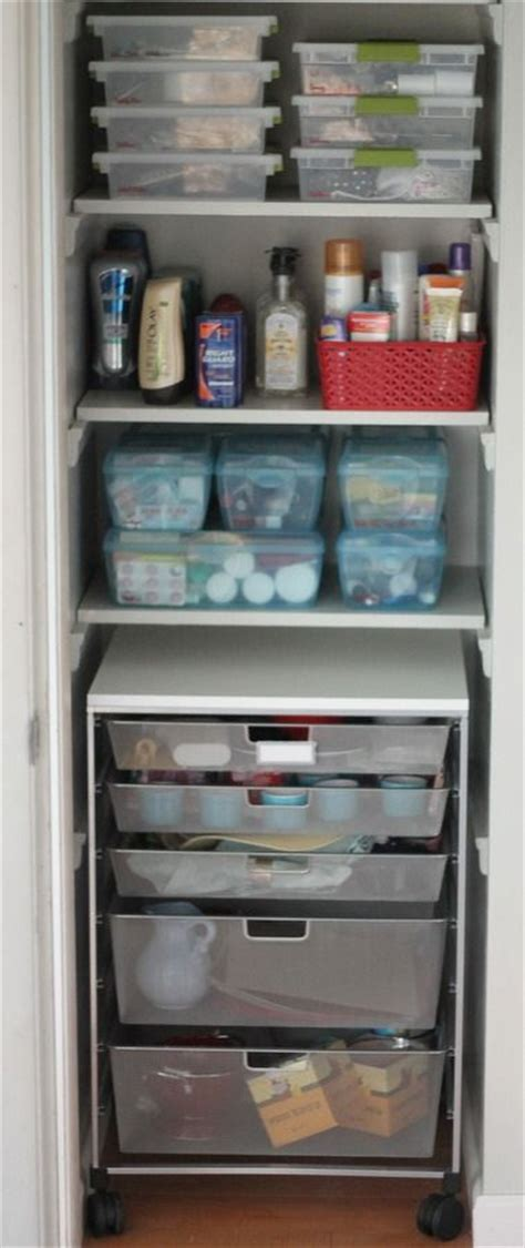how to organize bathroom closet linen closet organization