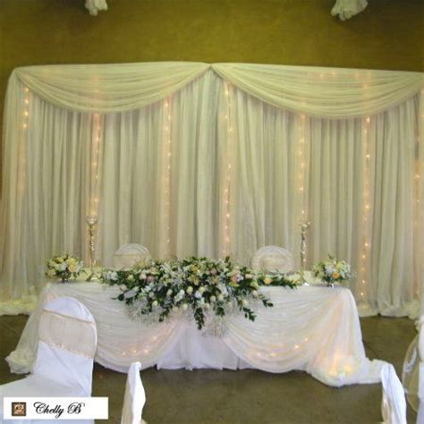 table draping for weddings wedding couples table with draping swagging pinterest